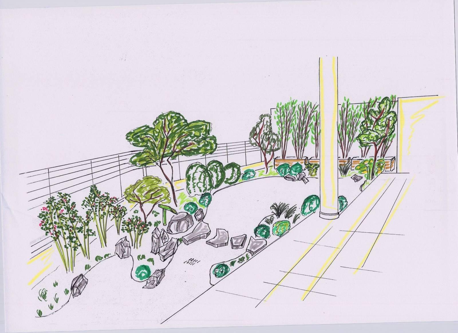 Photo Jardin Zen Chez Particulier création d'un jardin sur une terrasse pour un particulier à